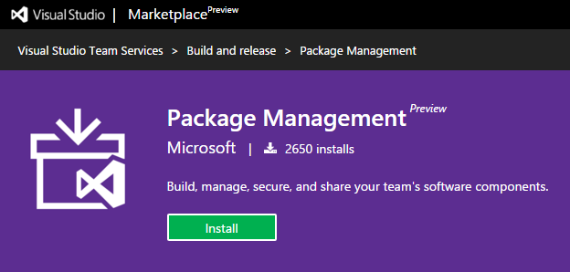 VisualStudioMarketPlacePackageManagement