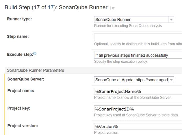 SonarqubeRunnerTeamCityTypeScriptDotnet